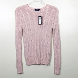 NWT POLO RALPH LAUREN Cable Knit Sweater